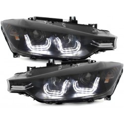 2x Phares avants BMW Serie 3 F30 F31 Xenon look Black 12-15