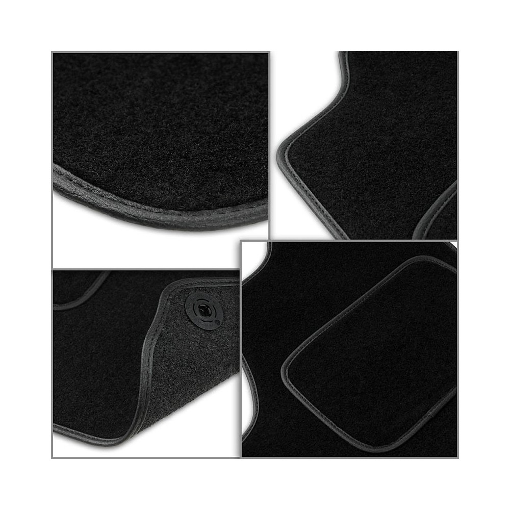 Set tapis velours noir Mercedes A W169 04-12