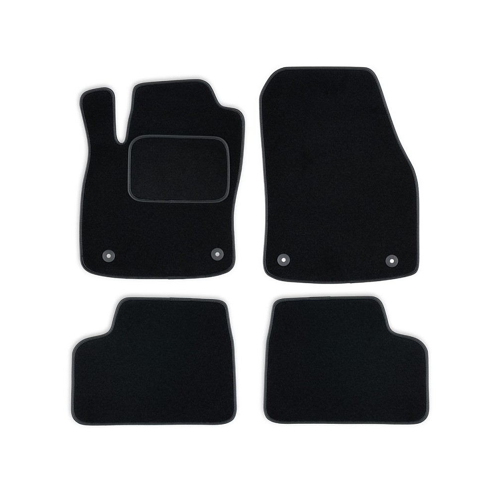 Set tapis velours noir Mercedes C W204 07-13
