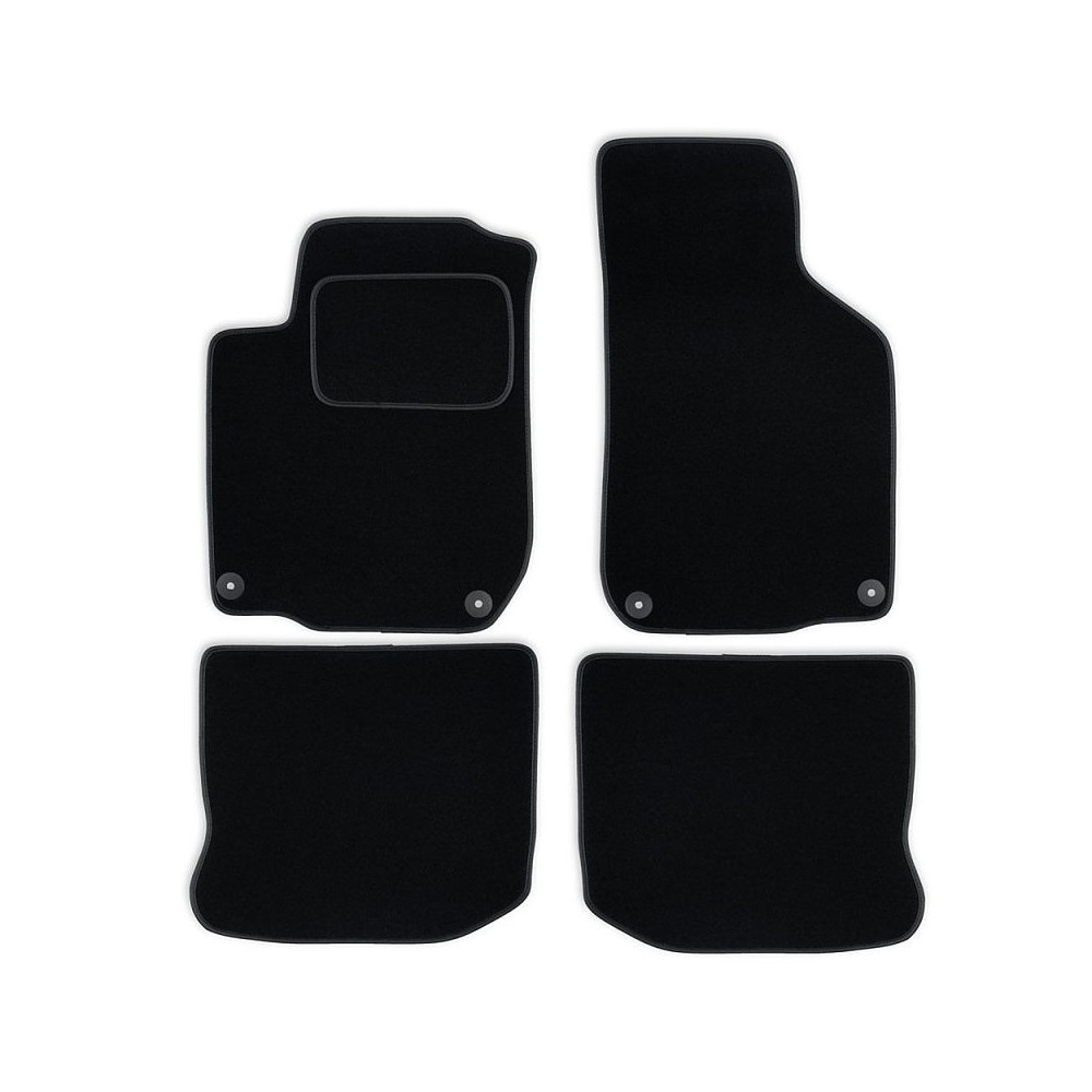 Set tapis velours noir Vw Golf IV 97-05