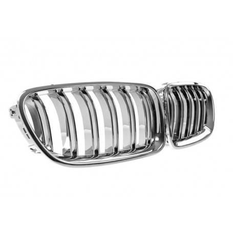 2x Grilles de Calandre M Performance Chrome BMW F10 F11 F18