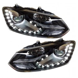 2x Phares LED Polo 6R 6C GTI Look xenon 09-