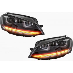 2x Phares LED Golf VII 7 GTI Red look 12-17